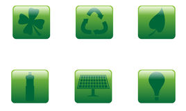 Green Buttons Square Royalty Free Stock Image