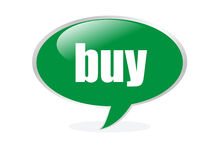 Green buy cloud bubble. Isolated green buy cloud bubble Royalty Free Stock Photo