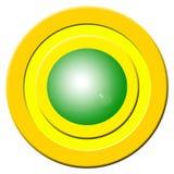Green Buzzer Button Stock Image