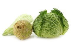 Green cabbage, celery and a pointed cabbage Royalty Free Stock Photo