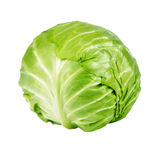 Green Cabbage Isolated Stock Images