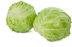 Green cabbage isolated Stock Image