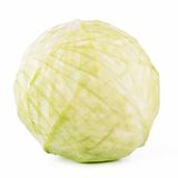 Green cabbage isolated Royalty Free Stock Photos
