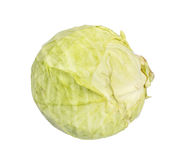 Green Cabbage, Isolated, White Stock Images