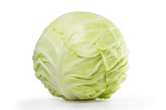 Green cabbage. Isolated on white Stock Image