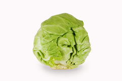 Green cabbage isolated on white. Background. Healthy food. Rich in vitamins and minerals Stock Photo