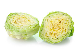 Green cabbage isolated on white Stock Photo