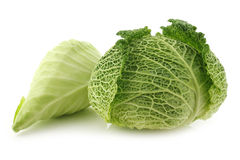 Green cabbage and a pointed cabbage Royalty Free Stock Image