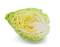 Green cabbage  on white Royalty Free Stock Photo