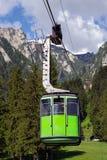 Green cable car Stock Photos