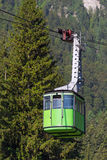 Green cable car Stock Photo