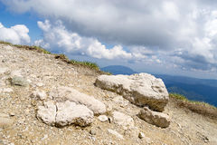 Mountain peak with some rocks Stock Images