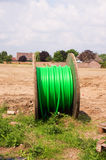 Green cable drum Royalty Free Stock Photography
