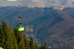 Green cableway Royalty Free Stock Photography