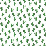 Cactus seamless pattern isolated on white background.Mexican seamless pattern. Green Cactus seamless pattern isolated on white background.Mexican seamless royalty free illustration