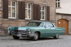 Green Cadillac Royalty Free Stock Photo