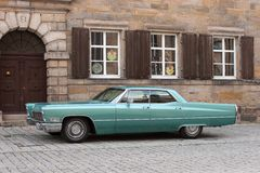 Green Cadillac Royalty Free Stock Images
