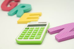 Green calculator Royalty Free Stock Photography