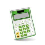 Green Calculator Stock Photography