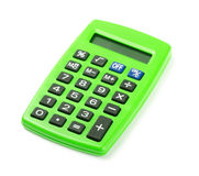 Green calculator Stock Photos