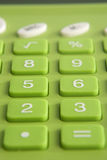 Green Calculator Macro. Macro of green calculator buttons Royalty Free Stock Photo