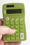 Green Calculator. Macro of green calculator buttons Stock Photography