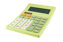 Green calculator Stock Image