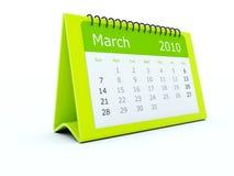 Green calendar Stock Photography