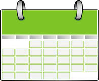 Green Calendar Royalty Free Stock Photo