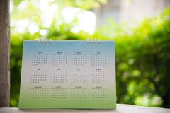 Green calendar. Royalty Free Stock Photos