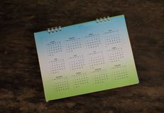 Green calendar. Royalty Free Stock Photo