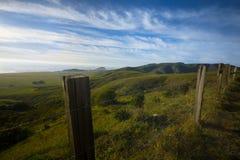 Green California hillside. Central coast Stock Photo