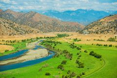 Green California Valley Royalty Free Stock Images