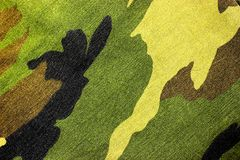 Green camo military hunting background texture Royalty Free Stock Photography