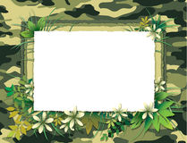 Green Camofulage Card. A decorated invitation card with a camouflage/jungle theme Royalty Free Stock Photography