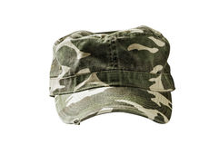 Green camouflage cap Royalty Free Stock Photos