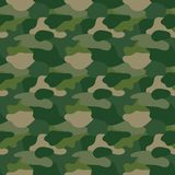 Green camouflage. Masking camo. Classic clothing print. Vector pattern Royalty Free Stock Photos