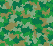 Green camouflage seamless pattern Royalty Free Stock Images