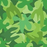 Green camouflage seamless pattern. Vector texture Royalty Free Stock Image