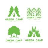 Green camp logo Royalty Free Stock Photos