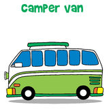 Green camper van for kids Stock Photography