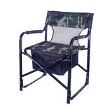 Green camping seat isolated Royalty Free Stock Photos