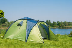 Green camping  tent Stock Photography