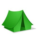 Green Camping Tent. Vector illustration Stock Photos