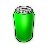 Green can Royalty Free Stock Photo