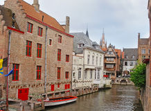 The Green Canal in Bruges Stock Image
