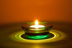 Green candle Royalty Free Stock Photos