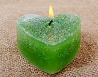 Green candle. Stock Image