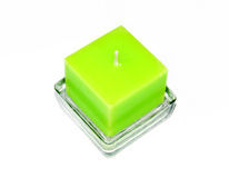 Green candle Stock Images