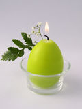 Green candle Stock Photo